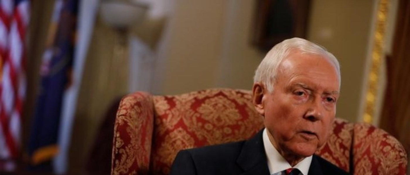 Senator Orrin Hatch during an interview on Capitol Hill. REUTERS/Aaron P. Bernstein