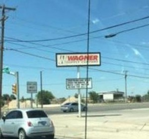 Wagner Supply Company's sign