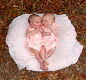 Korey and Sharon Rademacher's twin baby girls