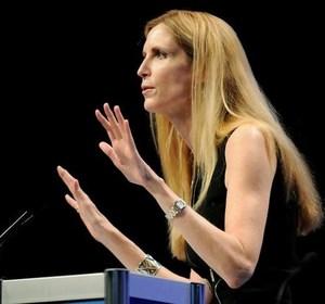 Ann Coulter speaking in Washington. REUTERS/Jonathan Ernst