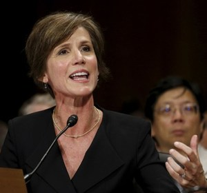 Sally Yates during a Judiciary Committee hearing in Washington. REUTERS/Kevin Lamarque