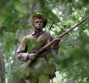 "A confederate soldier statue named ""Silent Sam"" in North Carolina. REUTERS/Jonathan Drake"