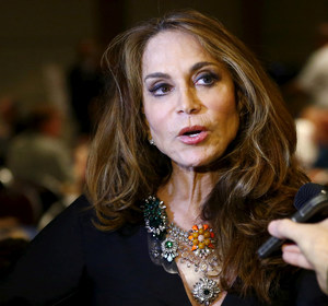 Political blogger Pamela Geller, American Freedom Defense Initiative's Houston-based founder, speaks at the Muhammad Art Exhibit and Contest. REUTERS/Mike Stone