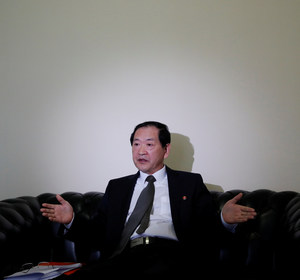 North Korea's ambassador to the United Nations Han Tae Song attends an interview with Reuters at the Permanent Mission of North Korea in Geneva, Switzerland, November 17, 2017. REUTERS/Denis Balibouse