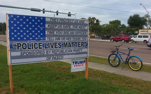 Police Lives Matter banner