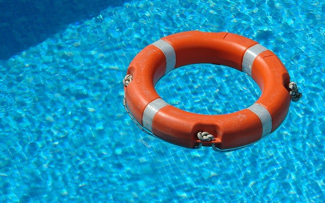 A life saver in a pool