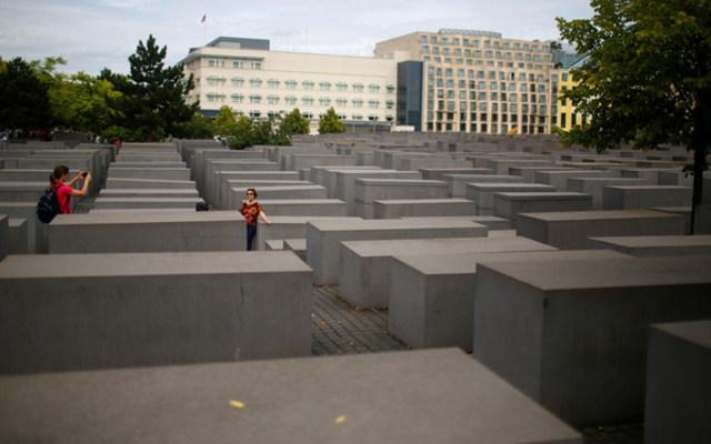 The Holocaust Memorial in front of the U.S. Embassy in Berlin. REUTERS/Hannibal Hanschke