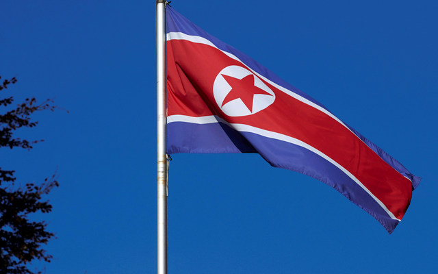 A North Korean flag. REUTERS/Denis Balibouse
