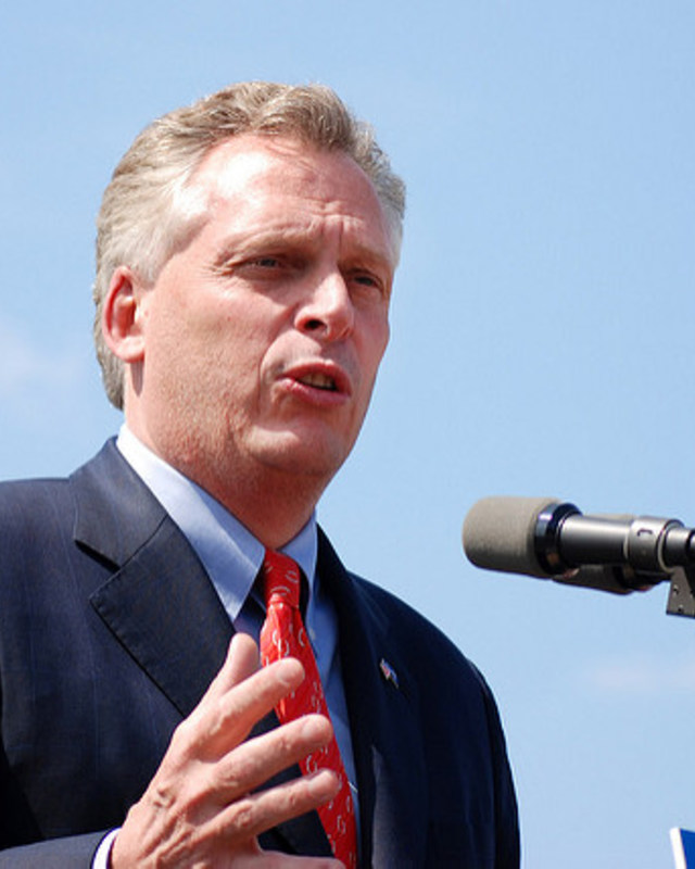 Democratic Gov. Terry McAuliffe of Virginia