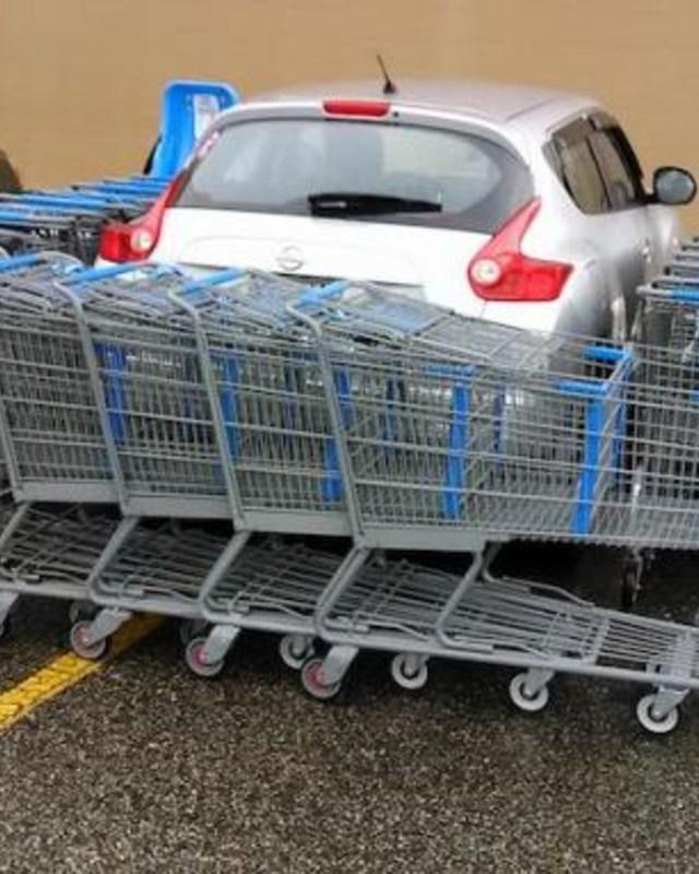 Shopping cart barricade