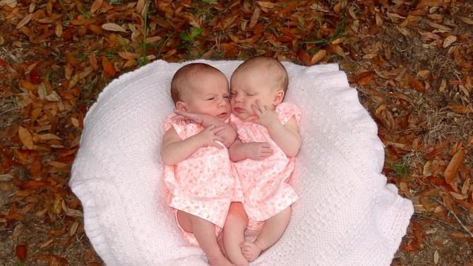 Korey and Sharon Rademacher's twin baby girls