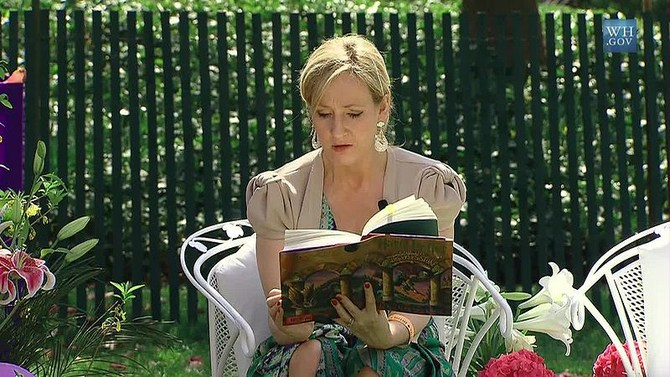 J.K. Rowling at the White House in 2010