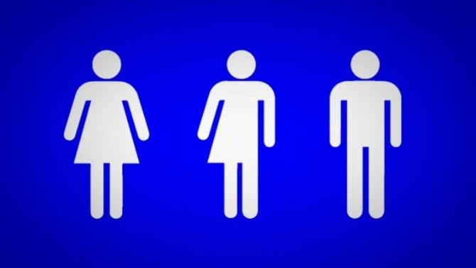 bathroom sign on restaurant door sparks controversy