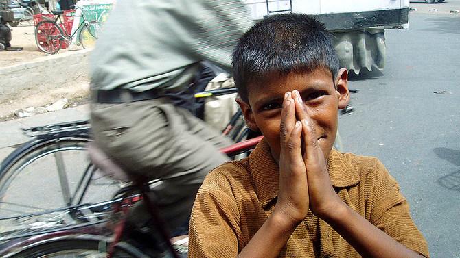 Boy begging