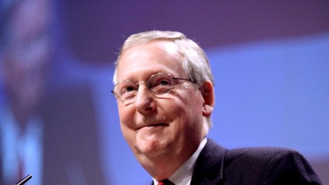 Senate Majority Leader Sen. Mitch McConnell of Kentucky