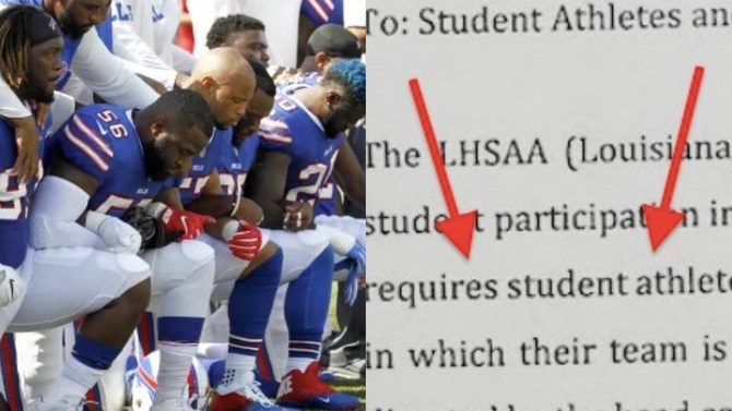 Louisiana ACLU puts schools 'on notice' for threats to punish student-athletes