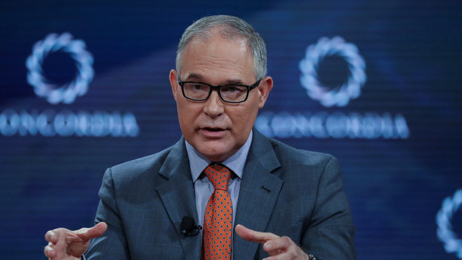 Scott Pruitt, Administrator of the U.S. Environmental Protection Agency, answers a question during the Concordia Summit in Manhattan, New York, U.S., September 19, 2017. REUTERS/Jeenah Moon