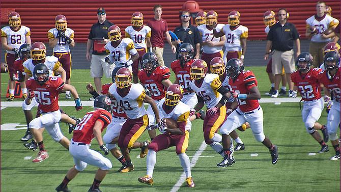 a high school football game