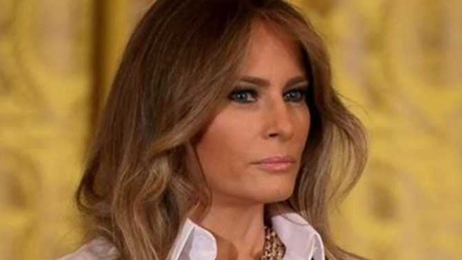 First Lady Melania Trump visits MI school to promote
