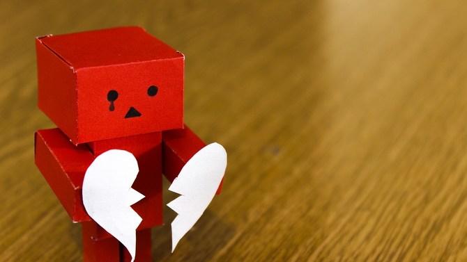 Heartbroken robot