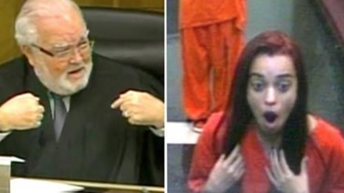 Judge Sentences Young Woman